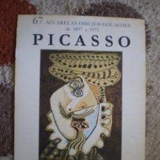 Coleccionismo Papel Varios: CARTEL ORIGINAL EXPOSICION PABLO PICASSO. SALA GASPAR. AÑO 1974. PRECIOSO DISEÑO.. Lote 156700834
