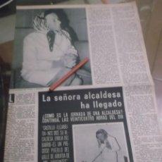 Coleccionismo Papel Varios: RECORTE AÑOS 60 - VALLE DE ARRATIA (VIZCAYA)EMILIA DEL BARRIO ALCADESA PUEBLO CASTILLO - ELEJABEITIA. Lote 156735402