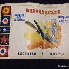 Coleccionismo Papel Varios: RECORTABLES REPLICA DEL ORIGINAL MODELOS A ESCALA. Lote 157299722
