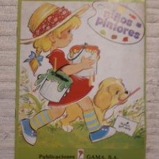 Coleccionismo Papel Varios: CUADERNO PINTAR NIÑOS PINTORES ED. GAMA. Lote 157311302