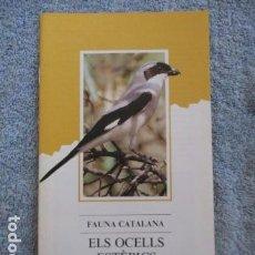 Coleccionismo Papel Varios: FAUNA CATALANA. ELS OCELLS ESTEPICS. GENERALITAT DE CATALUNYA. . Lote 157402782