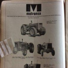 Coleccionismo Papel Varios: PUBLICIDAD TRACTORES MOTRANSA DE 1976. Lote 157684785