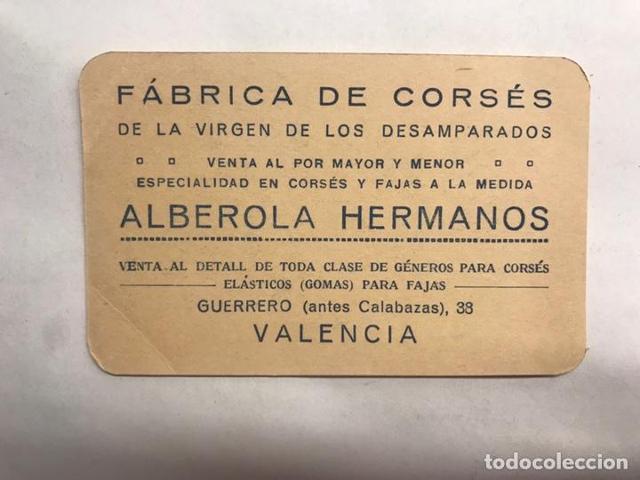 PUBLICIDAD. VALENCIA. FÁBRICA DE CORSÉS DE LA VIRGEN DE LOS DESAMPARADOS (H.1930?) (Coleccionismo en Papel - Varios)