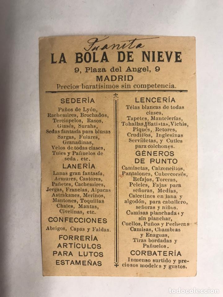 Coleccionismo Papel Varios: PUBLICIDAD. Madrid. Lencería. La Bola de Nieve (h.1920?) - Foto 2 - 158274757