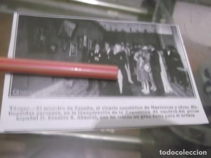 RECORTE AÑO 1920 - TÁNGER , INAGURACION EXPOSICION PINTOR ESPAÑOL ERNESTO S.ABASCAL (Coleccionismo en Papel - Varios)