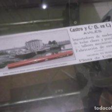 Coleccionismo Papel Varios: RECORTE AÑO 1918 - CASTRO Y Cª (S.EN C.) IMPORTADORES DE MADERAS - AVILÉS (ASTURIAS). Lote 158510430
