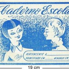 Coleccionismo Papel Varios: 2 CUADERNOS ESCOLARES MUY ANTIGOS - ANOS 50. Lote 158569210