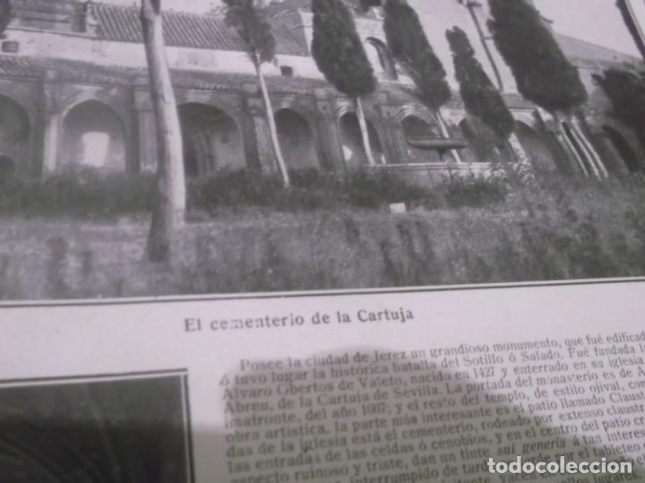 Coleccionismo Papel Varios: RECORTE AÑO 1918 - ( CÁDIZ ) LA CARTUJA DE JEREZ DE LA FRONTERA - Foto 2 - 158889726