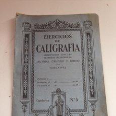 Coleccionismo Papel Varios: ANTIGUO LIBRILLO EJERCICIOS DE CALIGRAFÍA. Lote 159157072