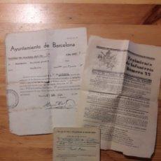 Coleccionismo Papel Varios: DOCUMENTOS EJERCITO RECLUTA BARCELONA 1934 Y REGIMIENTO INFANTERIA 22 ZARAGOZA MILITAR REPUBLICA. Lote 159274356