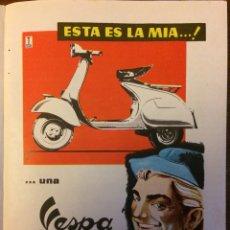 Coleccionismo Papel Varios: PUBLICIDAD MOTO VESPA AÑOS 60. Lote 159281132