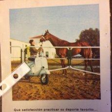 Coleccionismo Papel Varios: PUBLICIDAD MOTO VESPA AÑOS 60. Lote 159281401