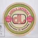 Coleccionismo Papel Varios: POSAVASOS PUBLICITARIO - CERVEZA DE ESPAÑA ÁGUILA IMPERIAL - DIÁMETRO 9,5 CM. Lote 159352600
