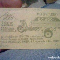 Coleccionismo Papel Varios: CIRCO PRICE 1963 30 MARZO ESPECTACULA CHANG DORSO PUBLICIDAD ROA MOTOCARRO R.C.600.L. Lote 159395334