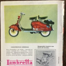 Coleccionismo Papel Varios: PUBLICIDAD MOTO LAMBRETTA AÑOS 60. Lote 159479488