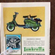 Coleccionismo Papel Varios: PUBLICIDAD MOTO LAMBRETTA AÑOS 60. Lote 159479632
