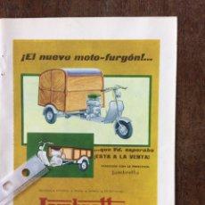 Coleccionismo Papel Varios: PUBLICIDAD MOTO LAMBRETTA AÑOS 60. Lote 159479837