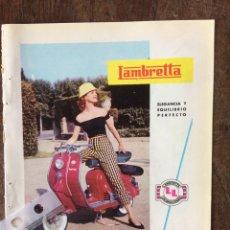 Coleccionismo Papel Varios: PUBLICIDAD MOTO LAMBRETTA AÑOS 60. Lote 159480125