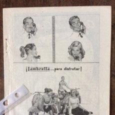 Coleccionismo Papel Varios: PUBLICIDAD MOTO LAMBRETTA AÑOS 60. Lote 159481300