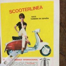 Coleccionismo Papel Varios: PUBLICIDAD MOTO LAMBRETTA AÑOS 60. Lote 159482178