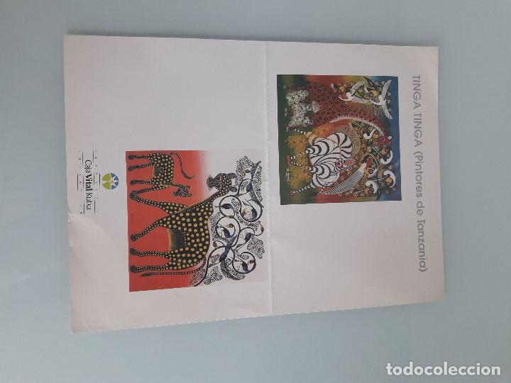 Coleccionismo Papel Varios: TINGA TINGA (PINTORES DE TANZANIA) - Exposición Sala Pajarita - Vitoria - 1997 - Arte Africano - Foto 3 - 159502526