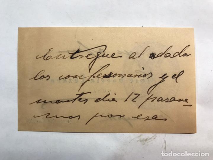 Coleccionismo Papel Varios: ALCUDIA DE CARLET (Valencia) Tarjeta visita Sr. Parroco José García (a.1942) - Foto 2 - 159588450