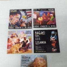 Coleccionismo Papel Varios: LOTE DE 5 TARJETAS - KALAO - ARTE AFRICANO - BILBAO - 2009. Lote 159739938
