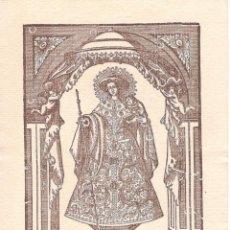 Coleccionismo Papel Varios: LA DIVINA PEREGRINA. DÍPTICO DEL MUSEO DE PONTEVEDRA, NAVIDAD 1954. Lote 160523534
