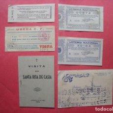 Coleccionismo Papel Varios: UBEDA.-FERIA DE SAN MIGUEL.-UBEDA C.F.-CRISTO DE LA EXPIRACION.-VISITA DE SANTA RITA DE CASIA.. Lote 160585750