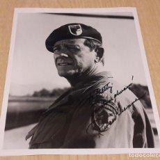 Coleccionismo Papel Varios: FOTO RAMBO. ACTOR RICHARD CREENA. CORONEL SAMUEL TRAUTMAN.. Lote 160589354