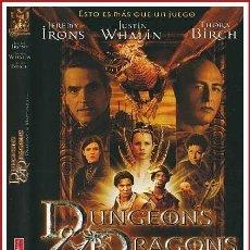 Coleccionismo Papel Varios: CARATULA ORIGINAL DVD DRAGONES Y MAZMORRAS [DUNGEONS DRAGONS]. Lote 160989337