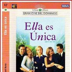 Coleccionismo Papel Varios: CARATULA ORIGINAL DVD ELLA ES ÚNICA. Lote 160989369