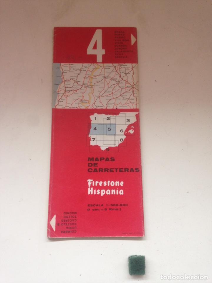 MAPA DE CARRETERA FIRESTONE HISPANIA 4 (Coleccionismo en Papel - Varios)