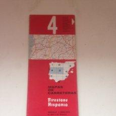 Coleccionismo Papel Varios: MAPA DE CARRETERA FIRESTONE HISPANIA 4. Lote 161023946
