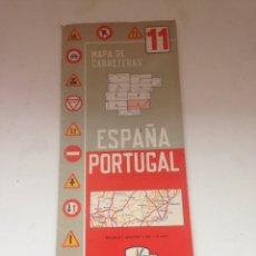 Coleccionismo Papel Varios: MAPAS DE CARRETERAS ESPAÑA PORTUGAL 11. Lote 161024230