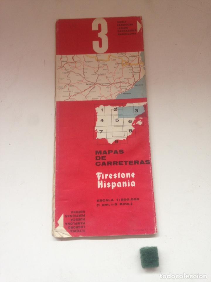 MAPAS DE CARRETERAS - FIRESTONE HISPANIA 3 (Coleccionismo en Papel - Varios)