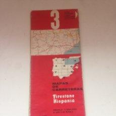 Coleccionismo Papel Varios: MAPAS DE CARRETERAS - FIRESTONE HISPANIA 3. Lote 161024368
