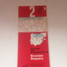 Coleccionismo Papel Varios: MAPAS DE CARRETERAS - FIRESTONE HISPANIA 2. Lote 161024428