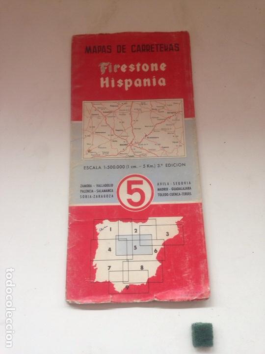 Coleccionismo Papel Varios: MAPA DE CARRETERAS - Firestone 5 - Foto 2 - 161024924
