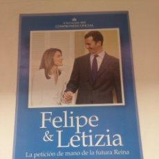 Coleccionismo Papel Varios: FELIPE & LETIZIA - PRONTO. Lote 161028069