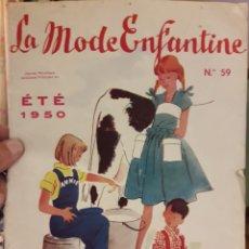 Collectionnisme Papier divers: REVISTA DE MODA 1950 LA MODE ENFANTINE REVISTA DE MODA DE 1950. Lote 161172562