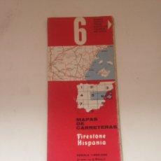 Coleccionismo Papel Varios: MAPAS DE CARRETERAS - FIRESTONE HISPANIA NRO 6. Lote 161804044