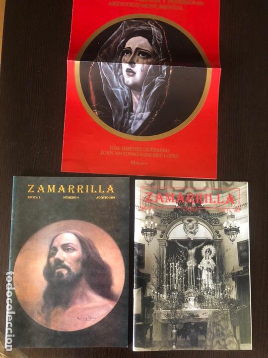 Coleccionismo Papel Varios: Boletines Zamarrilla agosto de 1999 y 2001 y cartel de anuncio de libro - Foto 2 - 161882505