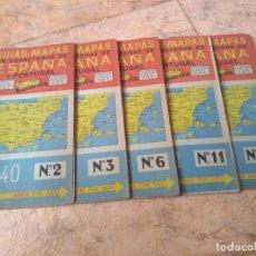Coleccionismo Papel Varios: LOTE DE 5 MAPAS ANTIGUOS DE CARRETERAS DE 1940. Lote 162474622