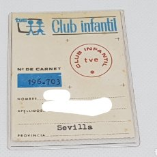 Coleccionismo Papel Varios: CARNET CLUB INFANTIL TVE ORIGINAL. Lote 162516669