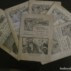Coleccionismo Papel Varios: EL RADICAL-PERIODICO REPUBLICANO REVOLUCIONARIO-BARCELONA-6 NUM AÑO 1906-COMPLETA?-VER FOTOS(V-16764. Lote 162615138