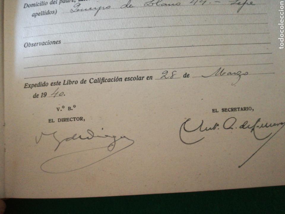 Coleccionismo Papel Varios: LIBRO DE CALIFICACION ESCOLAR - Foto 4 - 162543834
