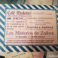 Coleccionismo Papel Varios: ANTIGUO PROGRAMA DE MANO CONCIERTOS MUSICALES CAFE MODERNO MURCIA. Lote 162840334