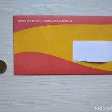 Coleccionismo Papel Varios: SOBRE PROPANGANDA ELECTORAL VOX ELECCCIONES GENERALES 28A 2019 SIN ABRIR.. Lote 163450114