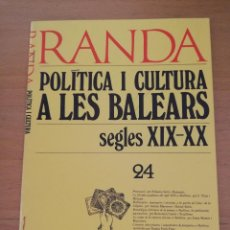 Coleccionismo Papel Varios: RANDA. POLÍTICA I CULTURA A LES BALEARS. SEGLES XIX - XX (24) ETAPES REPRESSIÓ FEIXISTA A MALLORCA. Lote 163567842